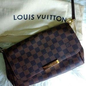 Louis Vuitton Favorite MM in Damier Ebene